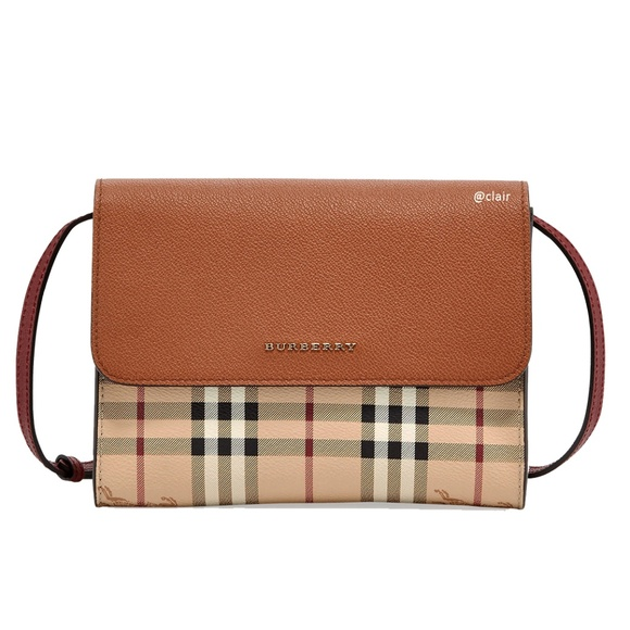 07222f4f3d54 New Burberry Small Loxley Haymarket Color Block